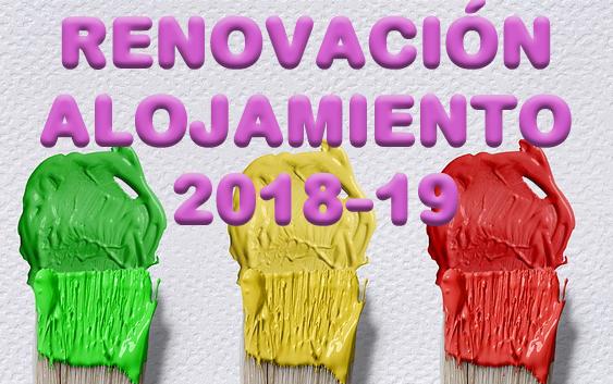 Renovación alojamiento curso 2018-19